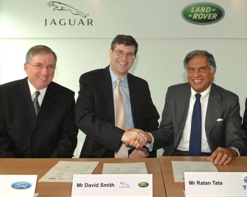 press conference when Tata Group acquired Jaguar Land Rover