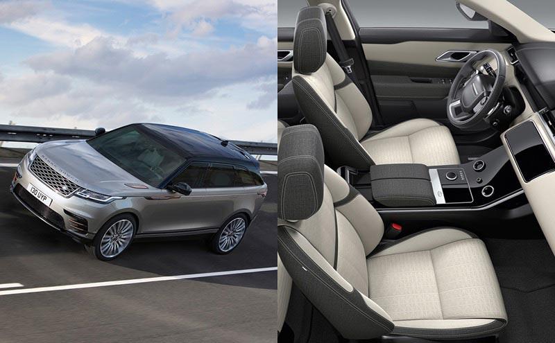 Range Rover on closed course / Range Rover Coupe overhead interior photo