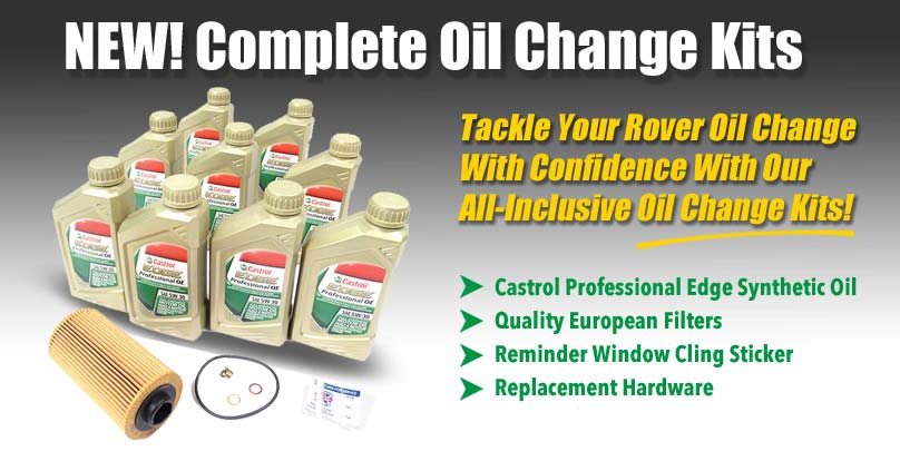 Land Rover Complete Oil Change Kits With Filter Seals Oil And - Land rover oil change