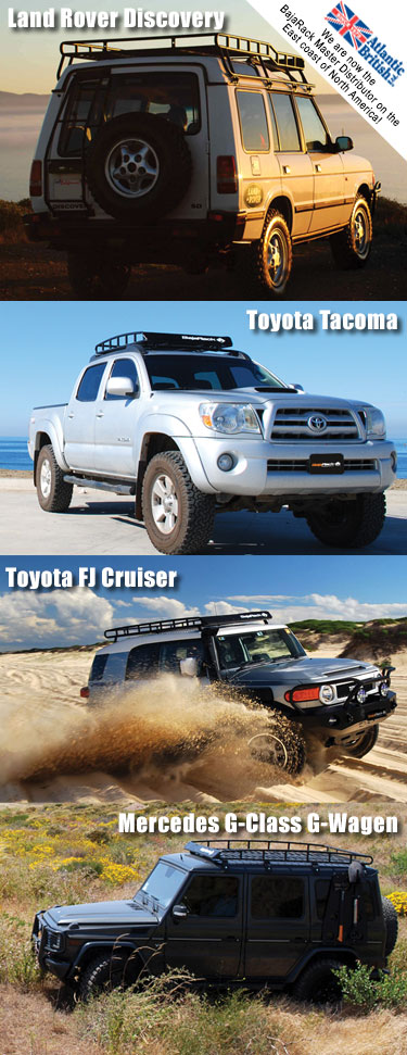 Expedition Roof Racks and Accessories for Your Land Rover, Toyota and Mercedes from Baja Rack
