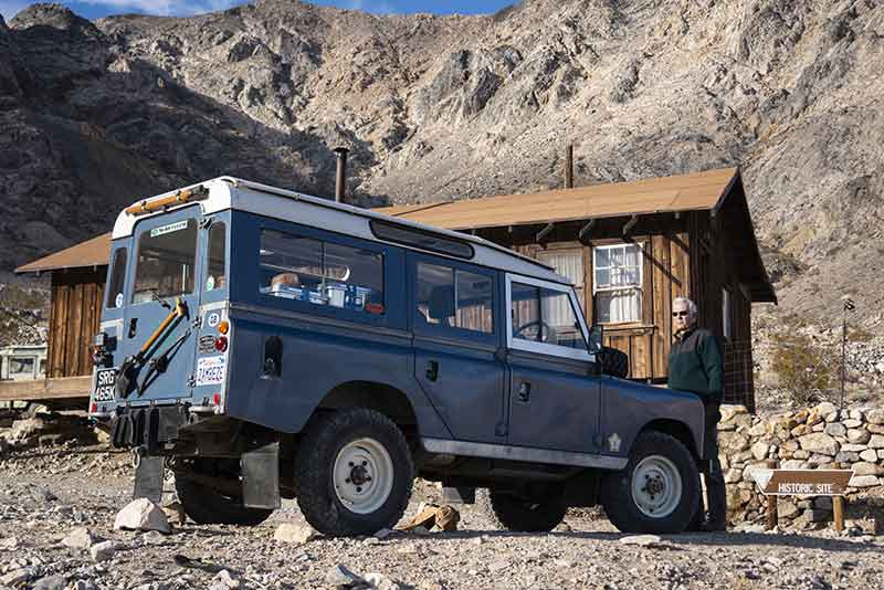 Land Rover Series in Death Valley