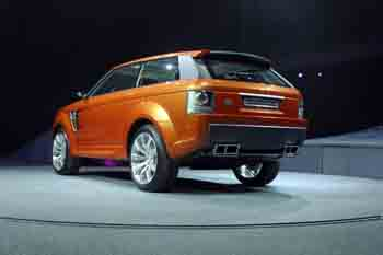 Rear view of the Range Rover Sport Concept Vehicle
