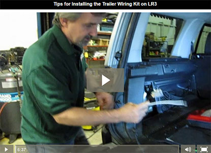 Install trailer wiring kit on LR3 video