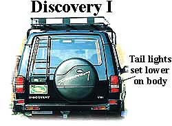 Land Rover Discovery I tail lights