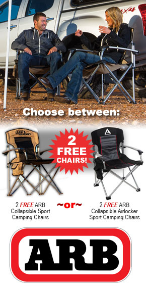 Buy An ARB Portable Fridge / Freezer And Get TWO FREE ARB Camp Chairs!