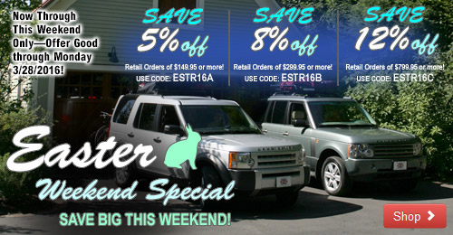 Save Big this Easter Weekend through 3/28/2016!