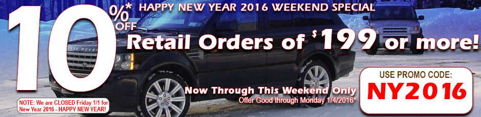 10% Off Retail Orders of $199 or more Now Through Monday 1/4/2016!